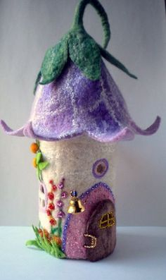 little felt fairy house