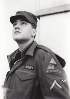 This is an previously unpublished snapshot of Private First Class Elvis Presley by fifteen-year-old German teenager Anita Stawarz, Bad Nauheim, Germany,1959. Anita Stawarz was not an Elvis fan but an autograph hunter, then living in Frankfurt, who came together with her girlfriends more than ten times to Bad Nauheim in 1959 (the first time in March) to get as many Elvis autographs and take as many photos as possible.