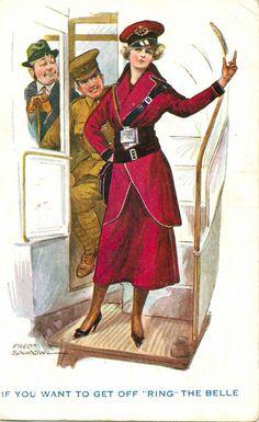 WW1 Comic Postcard by Spurgin: Suffragette, Women War Workers & Clippie Humour