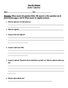 Worksheets Dear Mr Henshaw Worksheets dear mr henshaw student packet the story novels and pack