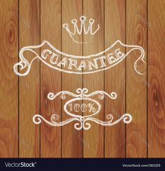 Design elements and a wooden background Vector Image by setory
