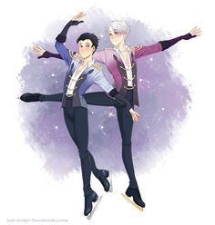 "just-themys-fanarts: "" I wanted to have this ready for Yuuri's birthday, but well, life went in the way, so I failed and this is a late birthday gift. I spent a lot of time on this, only to have it looks so disappointingly bad. I guess I'm too tired... ユーリ!!! on ICE Yuri!!! on Ice 