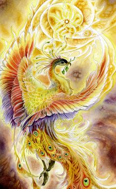 Stephanie Pui-Mun Law - Shadowscapes I love her artwork. This Phoenix is lovely. Magical Creatures, Fantasy Creatures, Tattoo Dragon And Phoenix, Phoenix Wings, Dragon Tattoos, Family First Tattoo, Botanical Tattoo, Illustrator, Desenho Tattoo