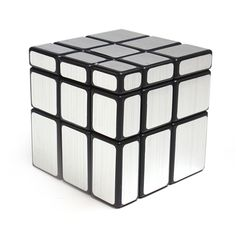New Technic 3x3x3 Stickers rubik Mirror Blocks Cast Coated Magic Cube Puzzle Educational Toys For kids and adult - Golden/Sliver