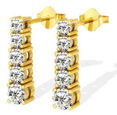 Diamantohrringe mit 1.50 Karat Diamanten aus 585er Gold für nur 1899,00 Euro bei www.diamantring.be