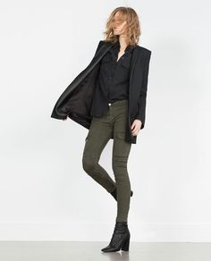 MILITARY TROUSERS MID-RISE-Skinny-Trousers-WOMAN | ZARA United States