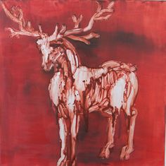 "Saatchi Art Artist Francesca Romana Pinzari; Painting, ""Deer"" #art"