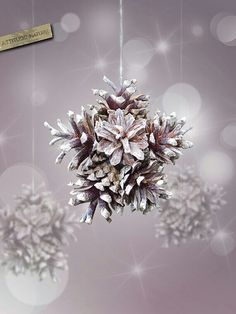 Star Pinecone Ornament