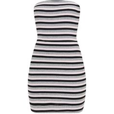 Grey Striped Bodycon Dress ($12) ❤ liked on Polyvore featuring dresses, grey dress, stripe dress, body conscious dress, gray bodycon dress and body con dress