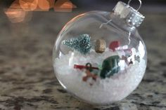 DIY Christmas Ornament - Fun I-Spy Ornament