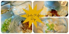Garlic Kefir Dip collage Loula Natural