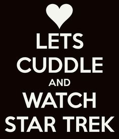 This to me is like the epitome of adorableness! I want my future husband to know when to turn on some Star Trek and cuddle❤️