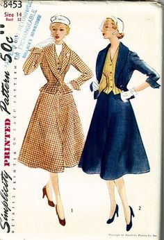 Early 1950s Simplicity Suit set Pattern