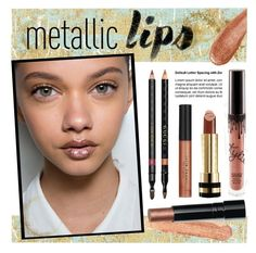 """""""metallic lips"""" by lgb321 ❤ liked on Polyvore featuring beauty, Thibaut, Wildfox, Gucci, Bobbi Brown Cosmetics and Julie Hewett"""