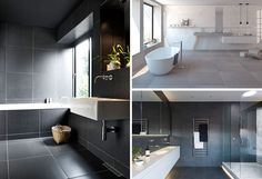 Bathroom Tile Ideas - Use Large Tiles On The Floor And Walls