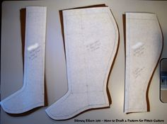 great blog for drafting a pattern for gaiters/s...