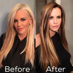 Jenny McCarthy darkens her hair for summer.