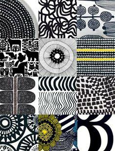 Risultati immagini per marimekko Motifs Textiles, Textile Patterns, Color Patterns, Print Patterns, Graphic Patterns, Design Textile, Fabric Design, Surface Pattern Design, Pattern Art