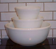 Opal White Mixing Bowls
