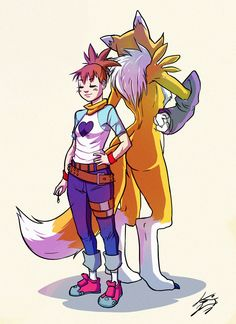 Ruki and Renamon by Keino-Evans.deviantart.com on @deviantART