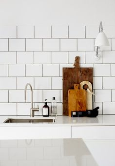 White kitchen. Photo Sara Landstedt | Stylist Johanna Pilfalk