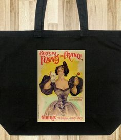 Vintage Style Tote Bag - Paris