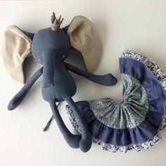 Sleepy ELLIOTT Handmade Blue Elephant Princess OOAK Heirloom