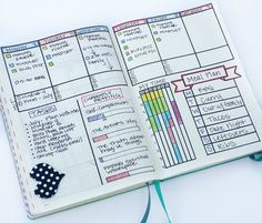 Weekly bullet journal layout: