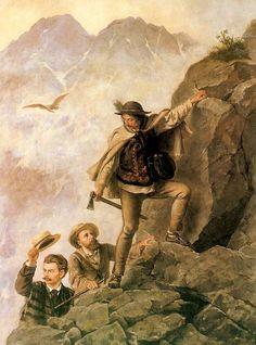 """""""Przewodnik i turyści w Tatrach"""",1878,Muzeum Narodowe Kraków Tatra Mountains, Old Photographs, Krakow, National Museum, Folk, Painting, Fictional Characters, Poland, Magic"""