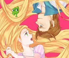 Disney Anime/ Rapunzel and Eugne Film Disney, Disney Rapunzel, Arte Disney, Disney Couples, Disney Fan Art, Disney Magic, Disney Movies, Tangled Rapunzel, Disney Princess