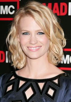 January Jones Hair.she always has the best short/Med hair cuts.  Love her Bob/textured cuts.