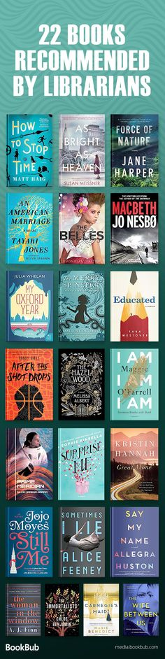 A great reading list of books recommended by librarians including books for women men and teens thriller books romantic books mysteries twisty novels and more. Best Books To Read, I Love Books, New Books, Good Books, Book Suggestions, Book Recommendations, Reading Lists, Book Lists, Reading Books