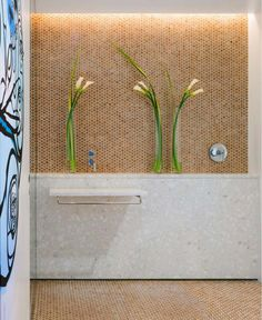 Cork Mosaic penny tile for the stylish bathroom [Design: The Habitus Collection] Tiles, Flooring, Penny Floor, Stylish Bathroom, Cork Flooring, Wall Covering, Penny Tile, Mosaic Tiles, Kids Room Wall Art