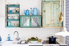 ... y un poco de diseño: Una cocina rústica y ecléctica