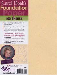 Carol Doak�s Foundation Paper
