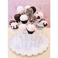 Cake Pop! Cupcake cakepops. Chocolate Confections. Custom Confections. Dessert. Cafe. Bakery. Wedding. #VillageIndulgence. @Kerricupcake on Instagram