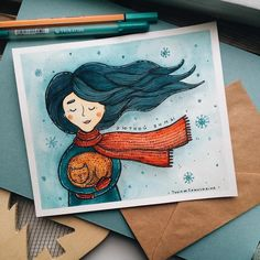 3,098 отметок «Нравится», 19 комментариев — Tania Samoshkina (@tania_samoshkina_art) в Instagram: «I wish you a bright holidays☄ #samoshkina_art #illustration #illustrations #dailyart #art #artist…» Watercolor Drawing, Watercolor Illustration, Painting & Drawing, Watercolor Paintings, Kunstjournal Inspiration, Art Journal Inspiration, Painting Inspiration, Jr Art, Winter Illustration