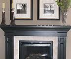 Thinking of painting my mantle black like this...so pretty.