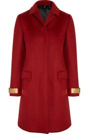 Burberry Prorsum Metal-trimmed cashmere-blend felt coat