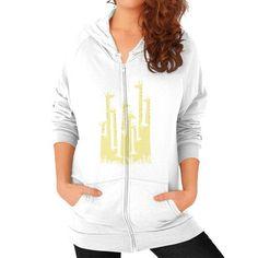 Giraffe Double Vision Zip Hoodie (on woman) Shirt