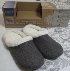 064c8914de1 LOFT SIZE L(9-10)WOMEN S ULTRA SOFT MEMORY FOAM HOUSE SLIPPERS SHOES GRAY  SOFT  fashion  clothing  shoes  accessories  mensshoes  slippers (ebay link)