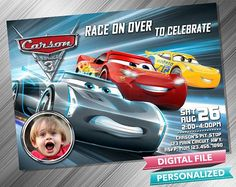 Cars 3 Invitation Cars 3 Invitations Cars 3 Invite Cars Birthday Invitation