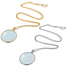 ab6e974583e Nice 5X Silver or Gold Monocle Magnifying Glass Pendant Sweater Necklace