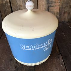 Seagram's Gin Ice Bucket, Cooler, Cookie Jar, Ice Bucket, Vintage Ice Bucket, Vintage Container by MaggieBleus on Etsy