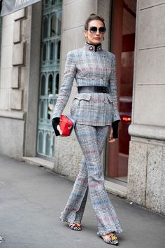 🌟Tante S!fr@ loves this 📌🌟 The Best Street Style At Milan Fashion Week Best Street Style, Street Style Trends, Cool Street Fashion, Street Chic, Look Fashion, Autumn Fashion, Fashion 2018 Style, Fall 2018 Fashion, Street Style Suit