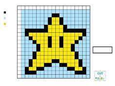 Miniatyrbilde av et Disk-element Mario Crochet, Graph Crochet, Mario Star, Mario Bros., Super Mario Brothers, Super Mario Bros, Hama Beads Mario, Perler Beads, Tiny Cross Stitch