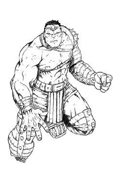 World War Hulk inks by BRuppert on DeviantArt  Coloring pages for