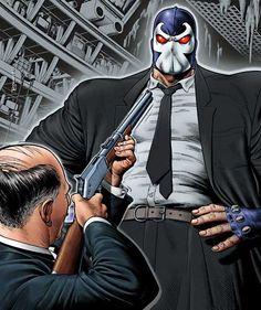 Alfred vs Bane by Brian Bolland