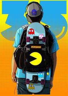 Pac-Man Anniversary Tribute - The Dark Inker Game Wallpaper Iphone, Pop Art Wallpaper, Naruto Wallpaper, Gaming Wallpapers, Animes Wallpapers, Dope Cartoon Art, Dope Cartoons, Pac Man, Desenhos Gravity Falls