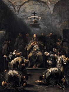 Prayer of the Penitent Monks by Alessandro Magnasco ca. 1667- ca. 1749,